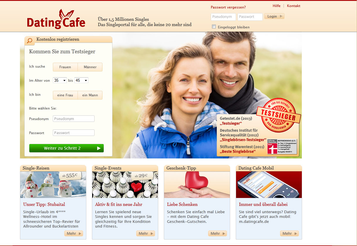 DatingCafe Testbericht - Singlebörsen Tests 2014
