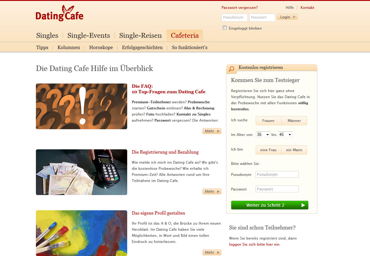 DatingCafe Test - der trialo Singlebörsen Test