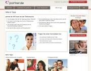 Aufbau des bekannten Partner.de Hilfe-Magazins 2012