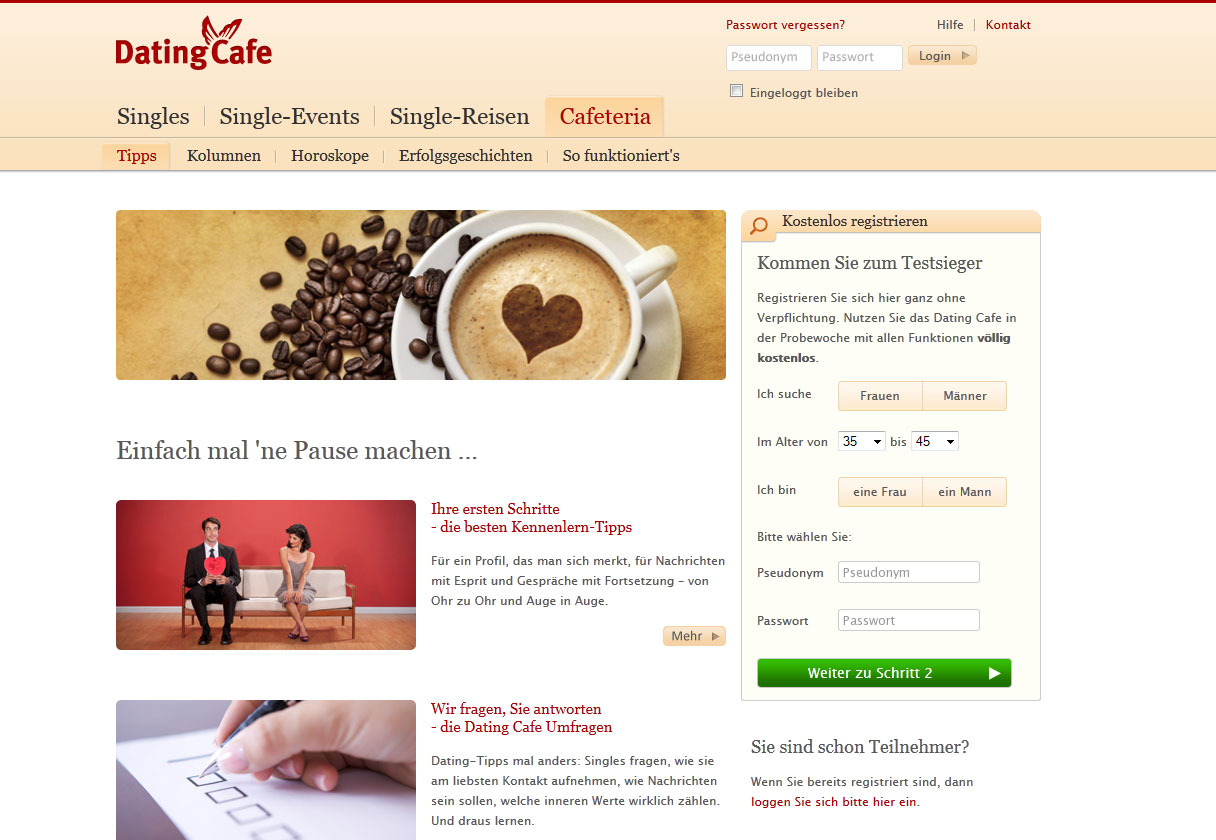 Dating cafe gutschein aktion
