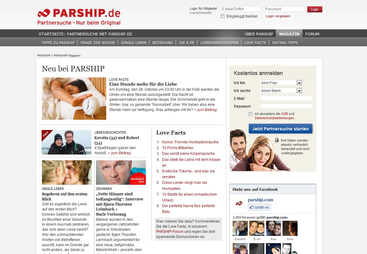 ist parship kostenlos